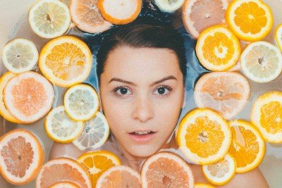 Getting a Facial with oranges