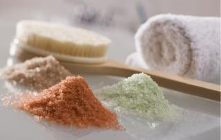 Professional Body Exfoliation with a selection of skin softing body scrubs